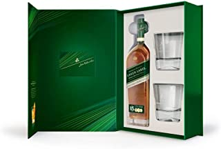 Johnnie Walker Green Label 15Y Blended Scotch Whisky 0,7L, 2 Gläser Geschenkbox