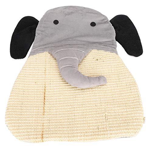 DAUERHAFT Tablero del rasguño del Gato Cute Cartoon 48x43x3CM para el sueño del Gato Mascota(Elephant)