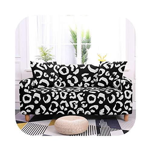 Sofa Covers - Funda de sofá extensible, fundas de sofá de leopardo elásticas, para salón 1/2/3/4 funda -SF005-9-3-Seater 190-230 cm