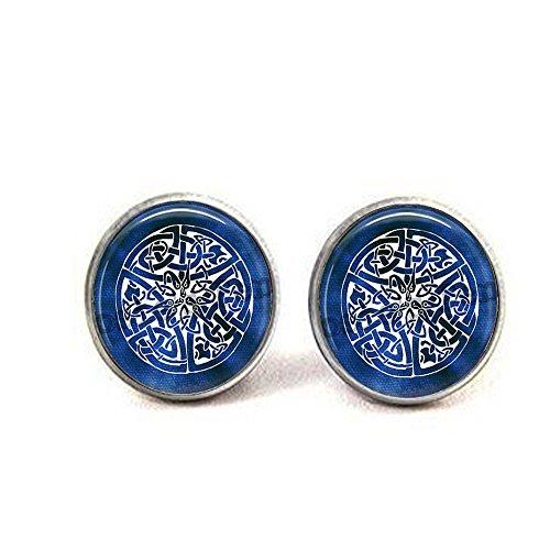Keltischer Knoten Manschettenknöpfe – Something Blue – keltische Hochzeit – Braut Manschettenknöpfe – keltischer Schmuck – keltischer Knoten Schmuck