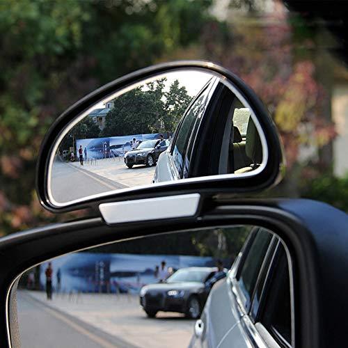 O27DS TOP KFZ Auto toter Winkel Spiegel Außenspiegel Blindspiegel Fahrschulspiegel zusatzspiegel Auto, verringert Unfallrisiko, erleichtert das Rückwertsfahren und Einparken, Passend für Autos, Abmessungen: 130mm x 70mm x 45mm, Farbe Schwarz (Links)