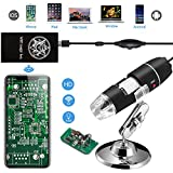 Jiusion倍率1000 xワイヤレスWiFi USBデジタル顕微鏡、40ハンドヘルドに内視鏡8 LEDミニカメラ電話吸引とメタルスタンド、と互換性Iphone Ipad MacウィンドウAndroid