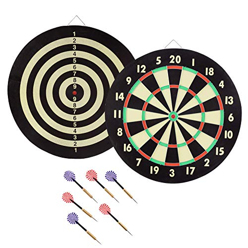 Best Prices! Hey! Play! 15-2004 Trademark Global Game Room Dartboard Set with 6 Darts