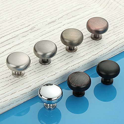 2 pomelli rotondi in lega di alluminio, pomelli rotondi e maniglie in stile vintage, per cassetti, porte, armadi, armadietti (rame rosso)