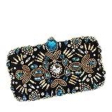 Liuxiaomiao - Bolso de mano para mujer, ideal para fiestas, bailes, bodas, fiestas, bodas, fiestas, bodas, fiestas de cumpleaños y fiestas (color azul).