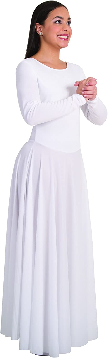 Body Wrappers 512 Womens Praise Long Sleeve Dance Dress