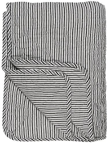 Quilt Weiss schwarz gestreift von Ib Laursen