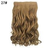 Funie Peluca   50 cm de moda rizada ondulada Clip en Extensión de pelo Cosplay Mujer...