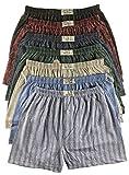 .bakis. 3/6/9/12 Stück Klassische Herren Boxershorts Unterhosen Unterwäsche mit Eingriff in Normalgröße und Übergröße, Kariert Gr.5(S)-13(6XL) - 6 Stück - Gr. 8(XL)