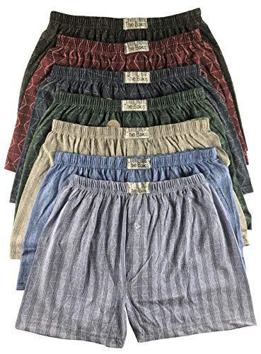 .bakis. 3/6/9/12 Stück Klassische Herren Boxershorts Unterhosen Unterwäsche mit Eingriff in Normalgröße und Übergröße, Kariert Gr.5(S)-13(6XL) - 12 Stück - Gr. 13(6XL)