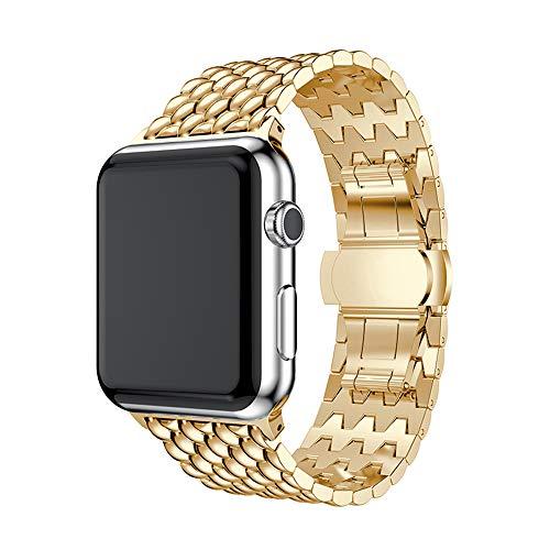 WAY-KE Correa De Reloj para Apple Watch 40mm 38mm 42mm 44mm, I-Watch Straps Pulsera De Eslabones De Repuesto De Acero Inoxidable Compatible con Apple Watch Series 5 4 3 2