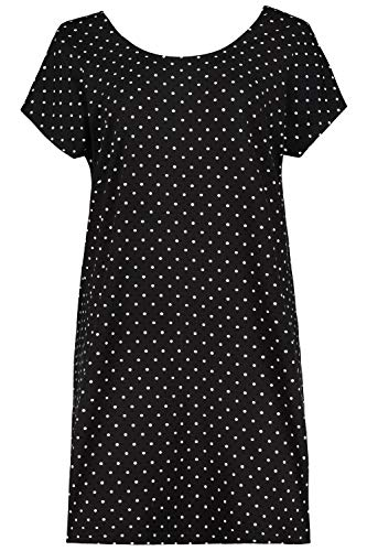 Ulla Popken Damen große Größen Nachthemd schwarz 42/44 723993 10-42+