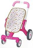 Smoby - 251223 - Baby Nurse - Poussette Pop - Roues Silencieuses et Multidirectionnelles