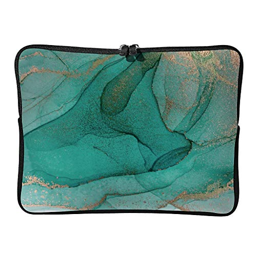 Standard Marble Texture Laptop Bags Wear-Resistant Unique Modern Style Tablet Sleeve Suitable for Indoor White 13 Zoll
