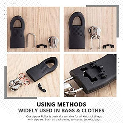 Yagood 20Pcs Universal Detachable Zipper Puller Set Wide Waistbands Elastic Waist Brown 10pcs(Large+Small)