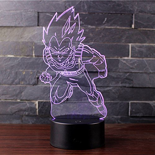 3D Illusion Nuit Lumière Win-Y LED Bureau Table Lampe 7 Couleur Tactile Lampe Maison Chambre Bureau Décor pour Enfants D'anniversaire De Noël Cadeau (Dragon Ball C)
