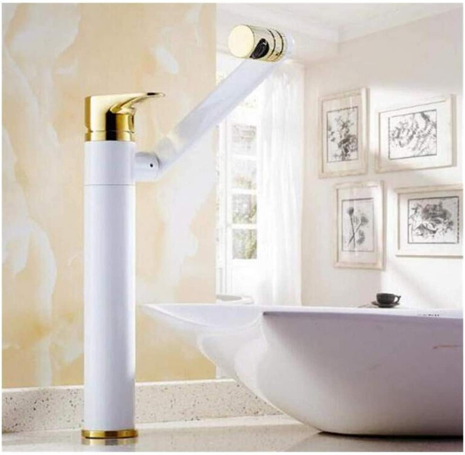 Chrome-Plated Adjustable Temperature-Sensitive Led Faucetfaucet Chrome Brass Hot and Cold Water Tap Sink Mixer Tap Wash Basin Faucet Basin Mixer