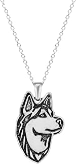 Vintage Punk Wolf Head Pendant Necklace Retro Original Animal Wolf Sweater Chain Necklace for Men Norse Viking Arrow Headed Amulet Jewelry