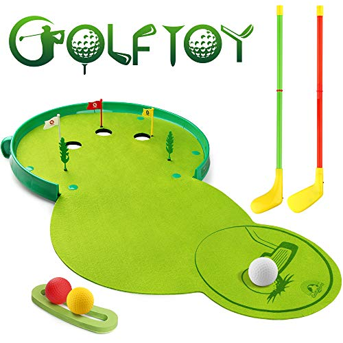 Betheaces Kids Toys Golf Set Xmas and Birthday Gifts for Toddlers Boys Girls, Educational Preschool Golfer Sports Outdoor Toy Golf Clubs Kit Game