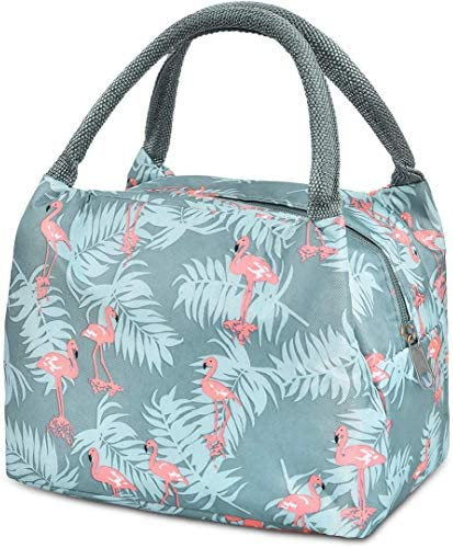 Lunch Bag for Women Instant Lunch Bag Large Tote Bag Insulated lunch bag Blue Flamingo product image