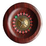 Dongbin Roulette-Tisch-Roulette-Rad-Set Holz-Plattenspieler Roulette-Rad-Set Spaß Freizeit Unterhaltung Tischspiele Für Erwachsene Kinderverlosung Plattenspieler,Braun