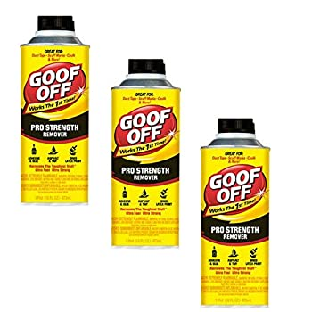 16-Ounce Goof Off FG653 Professional Strength Remover Pourable  3 bottles