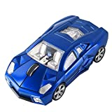 CHUYI Cool Sports 3D Car Shaped 2.4Ghz Wireless Optical Mouse 3 Button 1600DPI Cordless Office School Home Travel Mice with USB Receiver for PC Laptop Computer Gift (Blue-1 Pack)