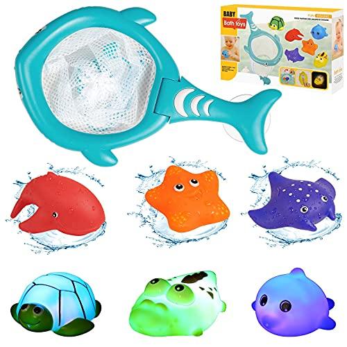 LEADSTAR Juguete de Baño para Bebé de 1 2 3 Años,7pcs Juguetes de Baño para Bebé...