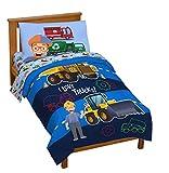 Jay Franco Blippi Machine Fun 4 Piece Toddler Bed Set – Super Soft Microfiber Bed Set Includes Toddler Size Comforter & Sheet Set Bedding (Official Blippi Product)
