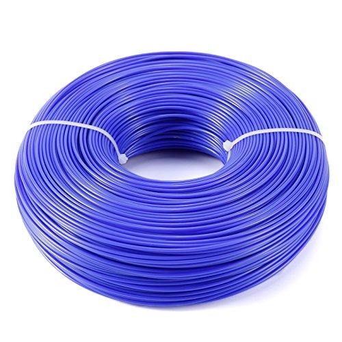 Mähfaden Trimmerfaden Trimmer Line Trimmer Schnur Ersatzfaden Nylonfaden Rund,1.6MM, Blau, 215 Meter