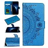 Urhause Funda Compatible con One Plus 7 Pro Carcasa Cuero Protectora PU Billetera Mandala Relieve...