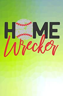 Home Wrecker: Baseball Lined Notebook and Journal Composition Book Diary