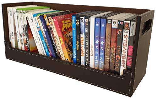 Caja Almacenamiento DVDs Estilo y diseño Atractivo | Magnética | Apilamiento Seguro | Más de 30 DVDs BLU-Ray o 90 CDs: para estanterías, mesas, escritorios | Accesorios Consolas de Videojuegos/PC/Mac