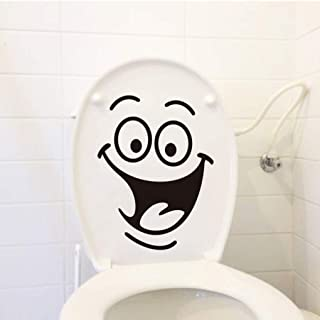 XBTZ 2019 Newest DIY Home Decor Removable Smile Face Funny Bathroom Toilet Seat Art Wall Sticker