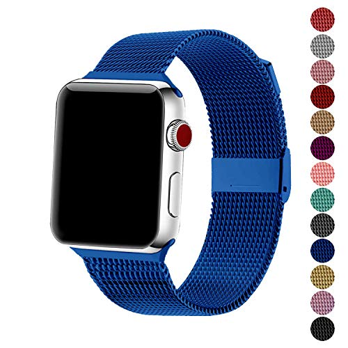 SexHope Compatible for Apple Watch Band 38mm 42mm 40mm 44mm Series 5 4 3 2 1 (Blue, 42mm/44mm)