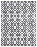 Diagona Moroccan Trellis Design 8X10 Area Rug, 92' W x 116' L, Gray/Ivory