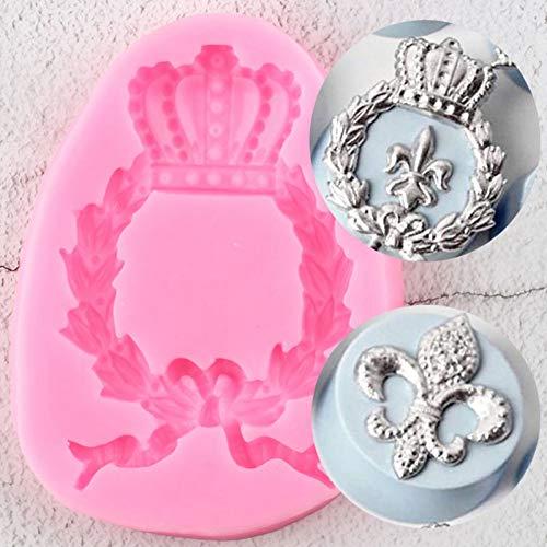 VIOYO Alivio de moldes de Silicona Cupcake Topper Fondant Baby Birthday Cake Decorating Tools Candy Chocolate Gumpaste Mold