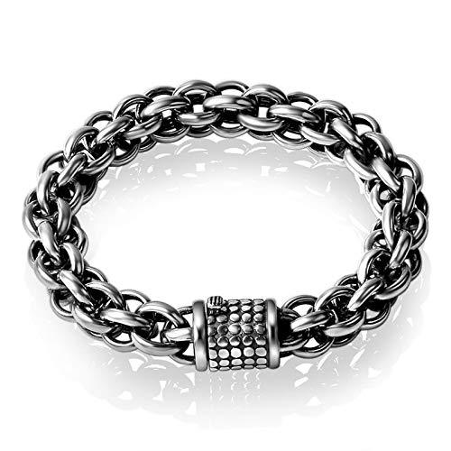 Daesar Charm Armband Silber 925 Herren Hochglanzpoliert Weizenkette Armband 9 Inch Hip Hop Armband Silber Freundschaftsarmband