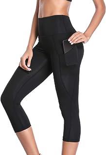 6ef51dec01fce Joyshaper 3/4 Leggings de Sport Yoga Pantalon Court avec Téléphonepoches  pour Yoga Fitness Courir