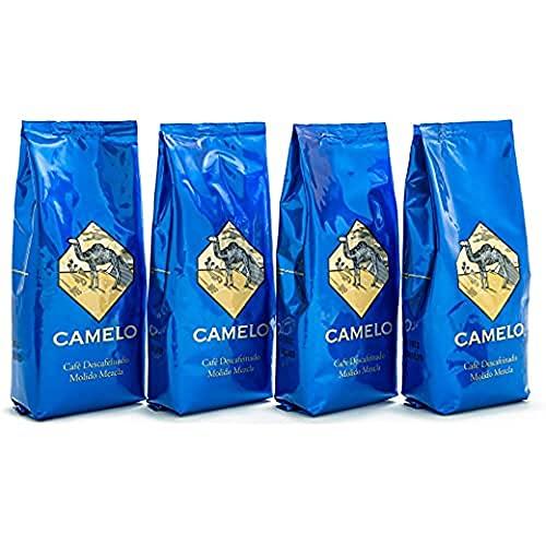 CAFÉ Camelo Molido Mezcla 50/50 Descafeinado (x 250 Gr.), Suave, 4 Unidad