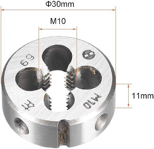 ZCHXD M10 M10x0.75 Pitch Metric Right Hand Round Die Machine Thread Die,Threading Die,Screw Die Tool,HSS High Speed Steel