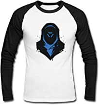 Men's Custom Long Sleeve Tee Overwatch Multiplayer Support ana Raglan t-Shirt