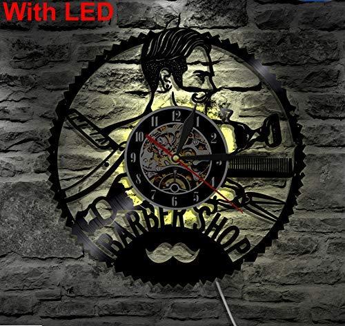 JFGX Applique Murale de Coiffeur, Fonction de veilleuse, décoration intérieure Originale de Salon de Coiffure, Appliques murales avec LED 12 Pouces