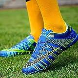 XRDSHY Zapatillas de Fútbol Hombre Atletismo Training Botas de Fútbol Profesionales Aire Libre Zapatillas de Deporte de Fútbol para Niños,Blue-33...