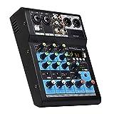 Mezclador de audio estéreo pequeño hogar karaoke 4 canales mezcla consola portátil tarjeta de...