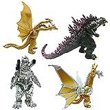 Figuras de Godzilla - CBOSNF 4 pcs Adornos Godzilla, Juego de Juguetes de Dinosaurio,Ideal Como Regalo para Niños
