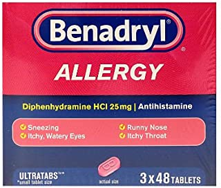 Benadryl Allergy Ultratabs Tablets, 3 Pk./48 Count. (Pack of 4) A1