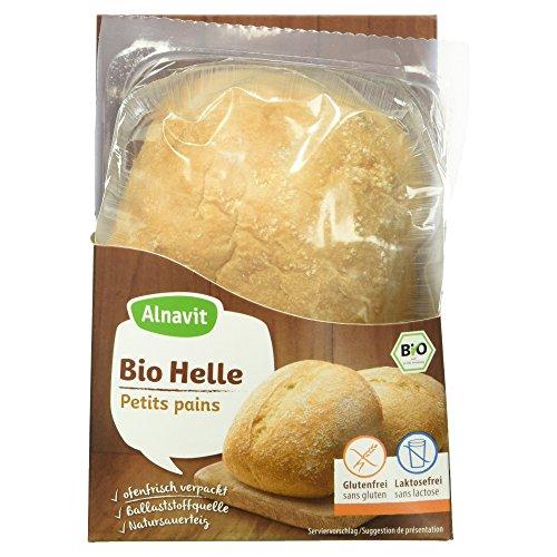 Alnavit Bio Helle Glutenfreie Brötchen mit Maisstärke und Hirseflocken, 2 Stück, 125g