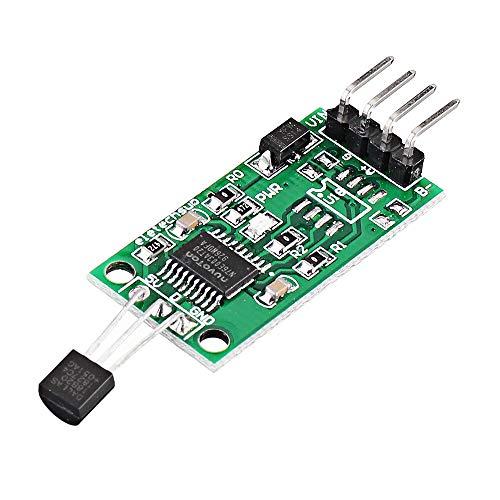 Sensor & Detektor Modul 3pcs DS18B20 5V RS485 Com UART Temperaturerfassungssensor-Modul Modbus RTU PC PLC MCU Digitales Thermometer