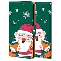 シンプルスマホ3 ケース 手帳型 509SHケース カバー おしゃれ かわいい 耐衝撃 スマホケース 純正 全機種対応 圣诞老人 レトロ 4670283